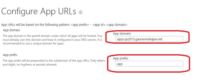 APP URLs