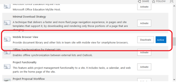 Turn off the mobile view in SharePoint/ Office 365